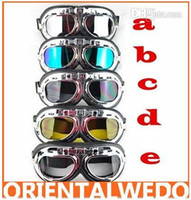 Wholesale motorcycle goggle Motorcycle Scooter Steampunk Cruiser Helmet Goggle Eyewear top sale