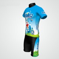 kids bike bicycle - Cartoon Kids Cycling Jersey pant suit Ropa Ciclismo bicicletas maillot Cycling Bike bicycle clothes children Cycling clothing