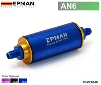 Wholesale Epman Racing Universal Blue AN6 Hi Flow Motorsport Rally Racing Alloy Fuel Filter With Steel filter EP OF06 BL