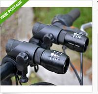 cree q5 bike light - 2pcs set Bike Cycling Head Light Front Flashlight Twin Cree Q5 LED Zoomable Torch Sets DH04