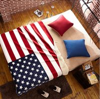 Wholesale Home Essentials Reversible British American Flag Ultra Plush Sherpa Printed Throw Blanket for Bedroom Counch Car cm New arrival