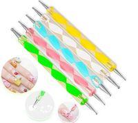Wholesale New set Way Dotting Pen Marbleizing Painting Tool Nail Art Dot Set LDD335