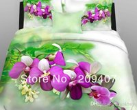 Wholesale Luxury Oil Painting Cotton King Size Flower Bedding Bed Set Duvet Covers set