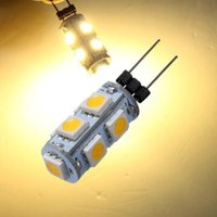 G4 LED blanc / blanc chaud ampoule projecteur DC 12V longue durée 9 conduit 5050 SMD LED Accueil / voiture / RV / Marine Ampoule de bateau