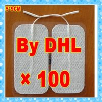 Wholesale DHL pieces rectangula Large CM TENS EMS HINE ELECTRODE PADS For Massage Digital Therapy Machine health medical devices mm Pin