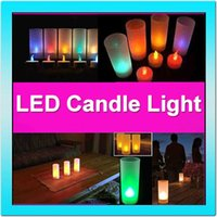 Wholesale 10SETS LED rechargeable candle flameless tea light plastic electronics remote control candle lamp