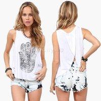 Cheap Hot Selling Women Tank Top Round Neck Cascading Back Loose Casual Tops Vest Blusa De Renda 4 Sizes 22