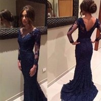 best party events - Best Selling Formal Party Event Long mermaid Applique Full Sleeve Bateau Bost Neck V back vestidos longo Evening Dresses