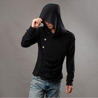 assassin creed hood jacket - Original design men s clothing sweatshirt hoodie hood cardigan men black cloak outerwear assassins creed jacket