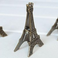 Wholesale Freeshipping Vintage Eiffel Tower Card Stand Paper Clamp Bookmark Metal Clip Office Stationery