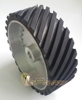 belt grinder wheel - 300 mm Belt Grinder Contact Wheel Grooved Rubber Polishing Wheel Dynamically Balanced