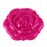 Wholesale Newest New Novelty Stereo Rose Flower Shape Portable Pocket Mirror Cosmetic Makeup D Double Sided Mirror Hot Selling