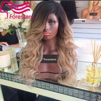 Cheap Peruvian Human Hair Two Full Lace Wig Blonde Ombre Lace Front Wig Body Wave Two Tone Blonde Human Hair Wig With Babyhair
