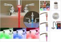 Wholesale new best colorful luminous color faucet led faucet light emitting color temperature change color