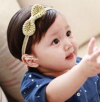 Wholesale Korean Style Kids Girls Handmade Bow Headbands KIds Girls Princess Hairwrap childrens elastic Hair Accessories