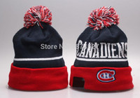 Wholesale Top Quality Canadiens beanie knitted hats baseball hockey ball knit beanies hats caps