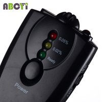 alcohol cheap - Cheap Mini LED Breath Alcohol Tester Keychain Breathalyzer Alkohol Tester Gadget Alcoholimetro with Flashlight and Retail Box