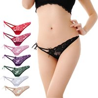 best selling lingerie - Brand new V string best selling Sexy Lace Briefs Panties Thongs G string for Womens Lingerie Underwear