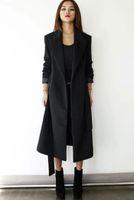 Wholesale Womens Winter Fashion Long Wool Blend Coat Thick Jacket Warm Parka Overcoat Retro Wool Blend Slim Fit Warm Windbreak Parka