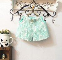 8pcs filles lace Short pantalon diamond Casual pantalon Fashion Summer Shorts enfant Kids pantalon filles vêtements