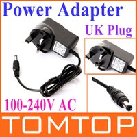 Wholesale UK Plug Adapter AC V to DC V Max A Power Supply Adaptor with Indicator Freeshipping Dropshipping
