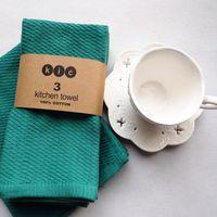 Wholesale 3pcs Cotton Solid Cloth Napkins x43cm Home Restaurant Cafe Table Napkin serviette de table kitchen tea towels