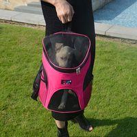 bag carrier pet - Wholesales Pet Carrier Backpack Portable Cat Dog Travel Bag Nylon Breathable Puppy Carrier Outdoor Dog Carry Bag HB0028 salebags