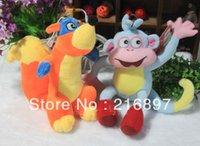 wholesale dora - 2PCS cm Dora Monkey Fox children baby kids Dora Dolls Stuffed Toys Toys Hobbies doll birthday gift Stuffed Toys