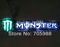 Wholesale New Self Adhesive light Monster sticker D Flame sticker with light Badge Emblem led stickers WHITE YELLOW BLUE RED can mix