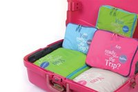 Wholesale are you ready for the trip for a Five Piece Luggage Organiser Set in Choice of Colour