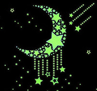 glow in the dark stars - 100pcs Wall Stickers Decal Glow In The Dark Baby Kids Bedroom Home Decor Color Stars Luminous Fluorescent Wall Stickers Decal