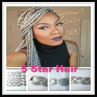 Wholesale Kanekalon Braiding Hair Synthetic Jumbo Braiding Hair Shades Gray inch g pc Jumbo Braids Grey Hair Bulk