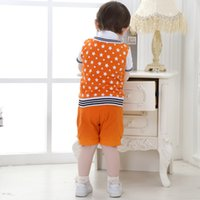 american transmissions - Baby Clothes Baby Girl Clothes Infant Clothing Summer Boy Suit Children Gentleman Two Sets Of Brand New Batch Transmission Tie