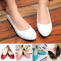 ballerina shoes - New Arrivals Women Lady Girls Patent Flat PU Leather Pumps Ballerina Slip On Dolly Ballet Casual Shoes Ex3
