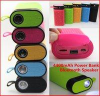 bank card center - Newest Outdoor Speaker TG06 Wireless Bluetooth Mini Portable Wallet Speaker mAh Power Bank LED lights Flash FM radio TF Card Speaker