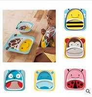 Wholesale 2014 color cute cartoon boys girls new SKP meal plate hedgehog butterfly good quality dishes plates Dinner Plate Bowl topB554