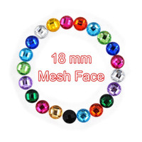 Wholesale mm Round Acrylic Flat Back Rhinestone Clear Crystal Stones For Dress Clothing Scrapbook Decorations pc