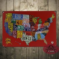 american car craft - American Craft Car license plate metal painting Retro Garage wall decor man cave cm