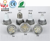 Wholesale LED Bulbs GU10LED lamp cup v v pins w w GU5 MR16 screw E27 light bulb LED shoot the light cup
