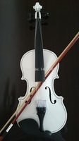 Wholesale Student Acoustic Violin Maple Spruce with Case Bow Rosin White color