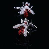 Cuff Links animal cufflink - Fashion Red bee Unique For men jewelry cufflinks animal men s brass crystal cufflinks shirt cuff links