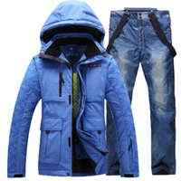 Wholesale winter men s Ski amp Snowboard suit thick waterproof windproof and warmth jacket and pant descente ski jackets