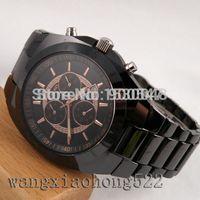 art wrist watch - Details about mm runosd black rose gold art chronograph date Quartz ceramic wrist Watch R24