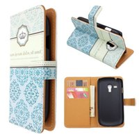 Cheap Crown Moroccan Leather Wallet Case for Samsung Galaxy S3 III Mini i8190 FREE SHIPPING