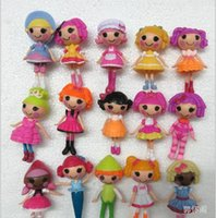Wholesale 2015 Lalaloopsy Dolls Mari Golden Petals Button Eyes Girl Mini PVC Figure Toys Girls Dolls Christmas Gifts set Mini Cute Baby Doll