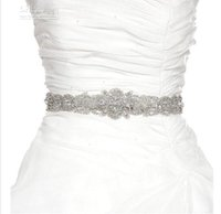Wholesale 2015 High Quality Bridal Sash with Beads Bridal Belts with Rhinestones Bridal Accessory Satin Belt for Prom Evening Wedding Dresses