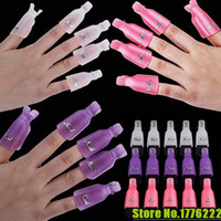Wholesale 10Pcs Plastic Acrylic Nail Art Soak Off Clip Cap UV Gel Polish Remover Wrap Tool
