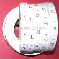 Wholesale cmx2 cm piece piece Roll Cloth Woven Garment Size Labels garment accessories