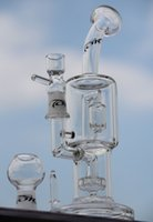 Wholesale High quality quot toro quot glass bong quot inches two function tire perc with splash guard perc have nail dome bowl mm joint