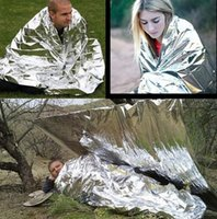 Wholesale Hot Portable Waterproof Emergency Survival Foil Thermal First Aid Rescue Blanket Thermal Space Sliver Rescue Curtain Outdoor SP03010